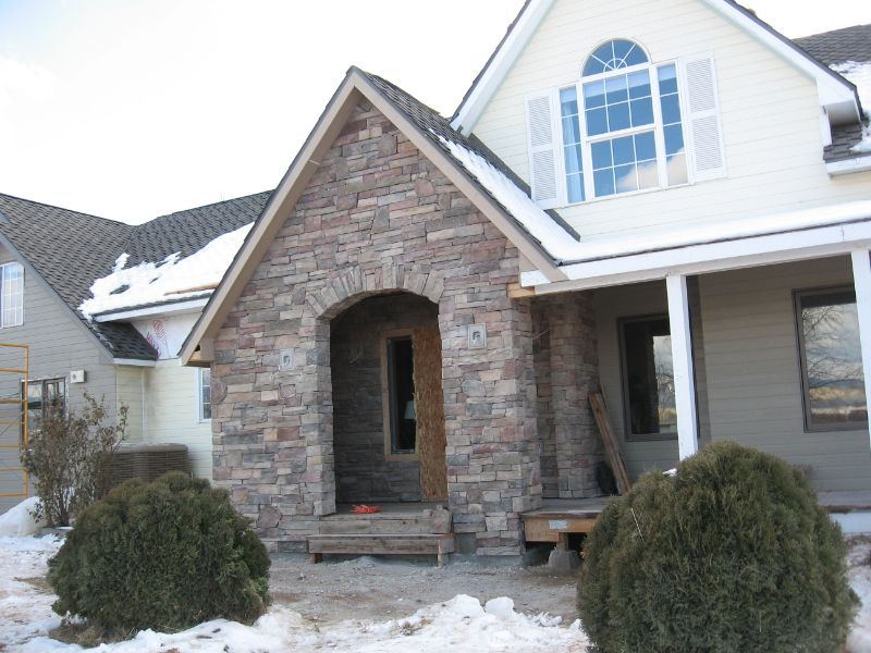 Front of home in winter